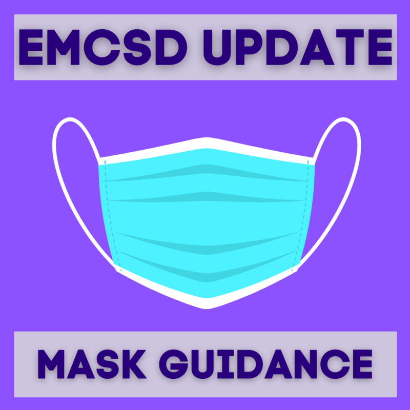 Graphic that states: EMCSD update - Mask Guidance