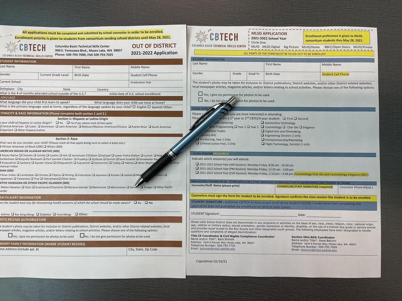 In and Out-of-District CBTECH Applications.