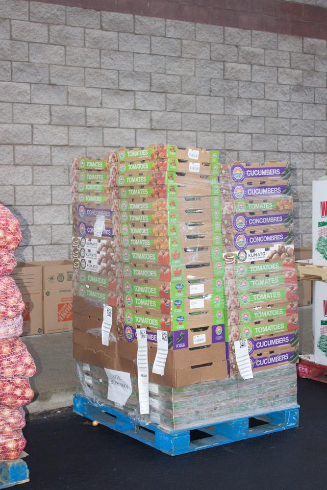 pallet of vegetables