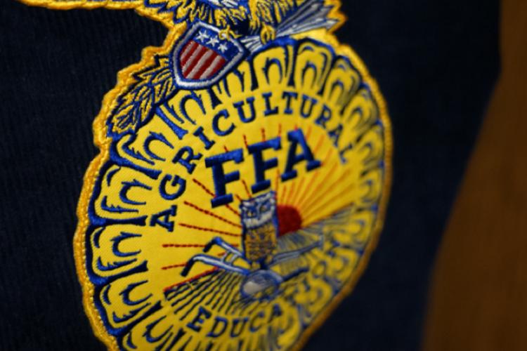 FFA logo on back of FFA jacket