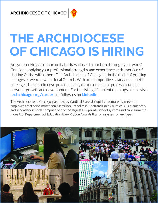 The Archdiocese of Chicago is Hiring! Featured Photo