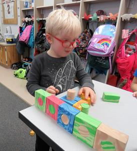 Building blocks, empty cardboard boxes and making forts in the classroom were some of the favorite activities students enjoyed.