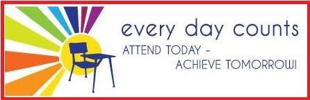 every day counts; attend today-achieve tomorrow!