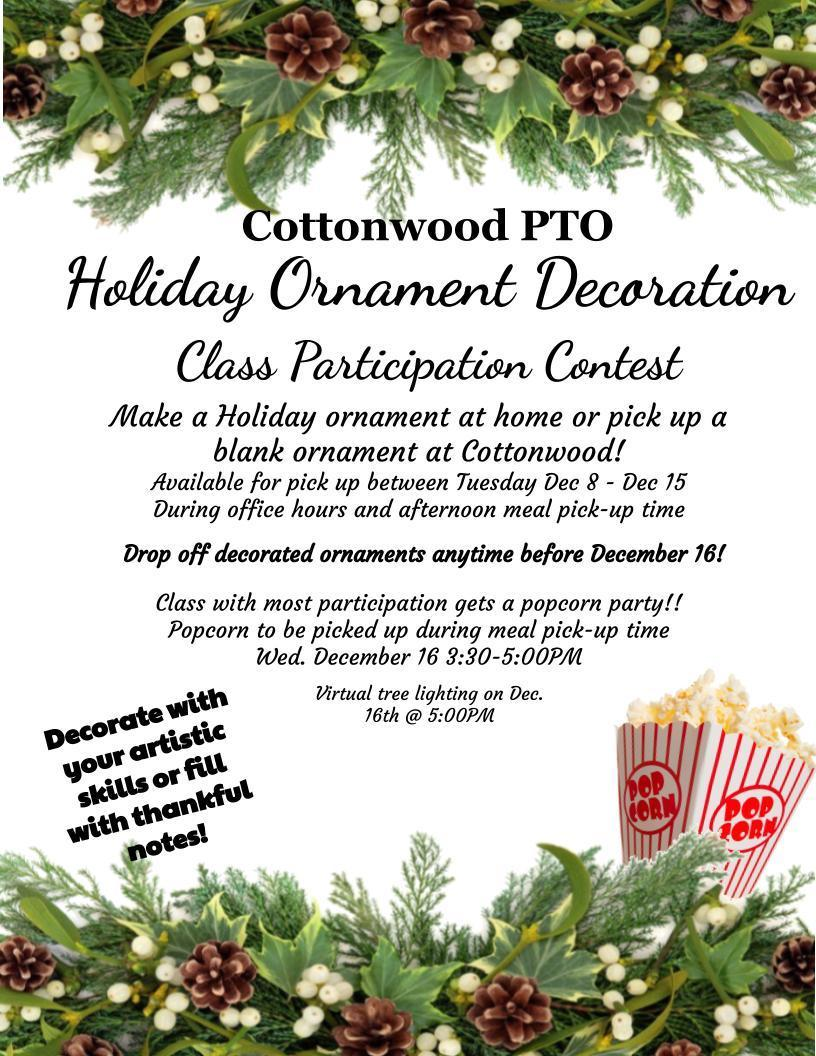 Holiday Ornmant Contest Flyer