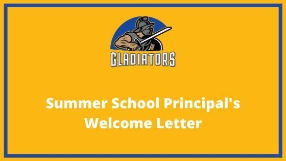 Summer School Principal's Welcome Letter