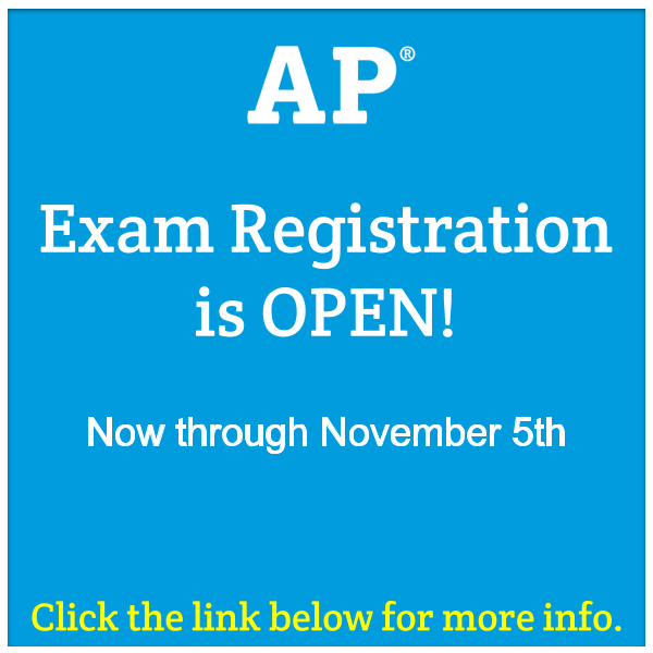 AP Exam Registration Now Open Featured Photo