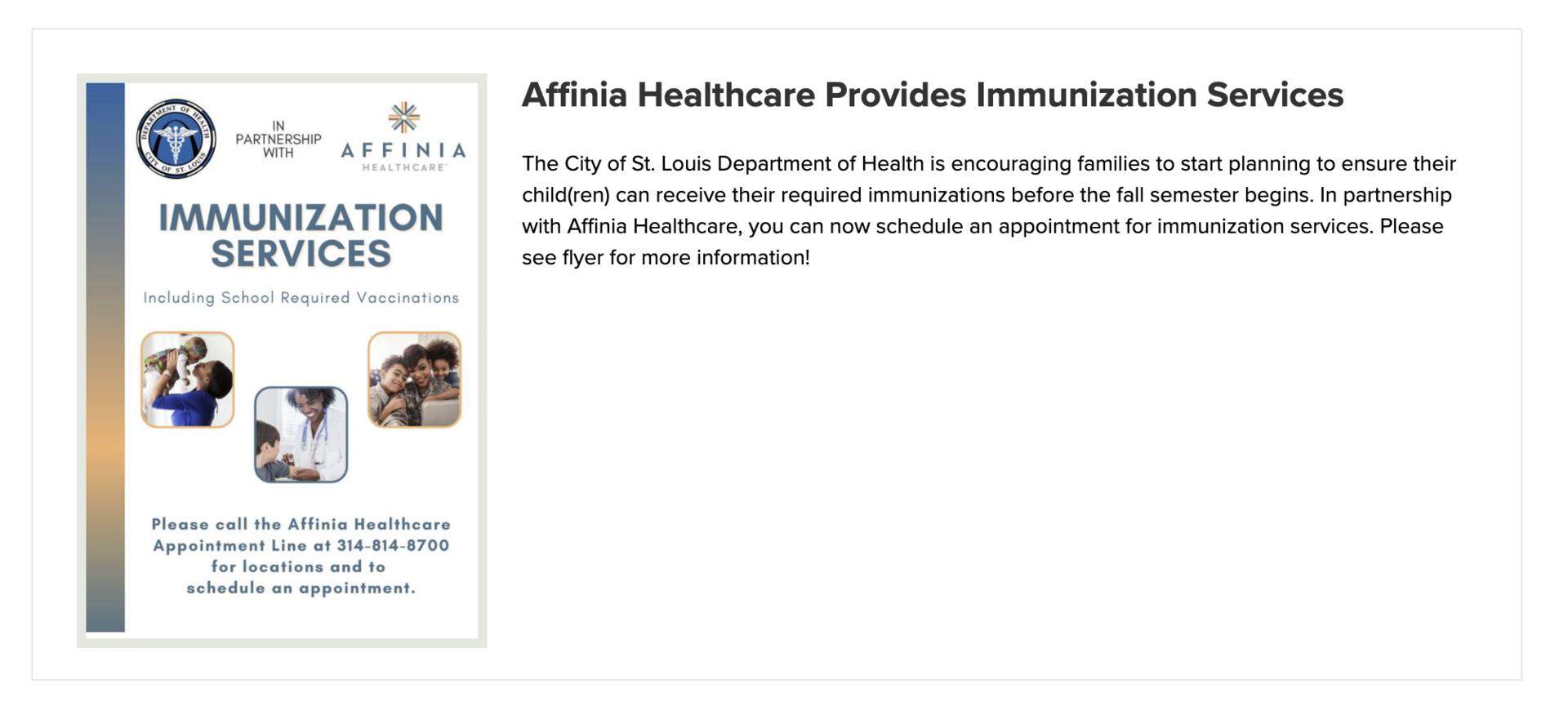Affinia Healthcare Confluence
