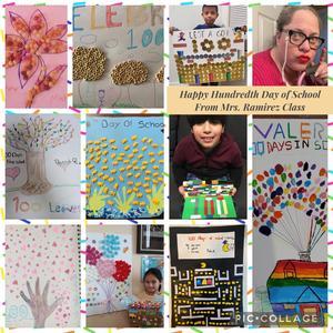 Mrs. Ramirez's class 100 items project collage