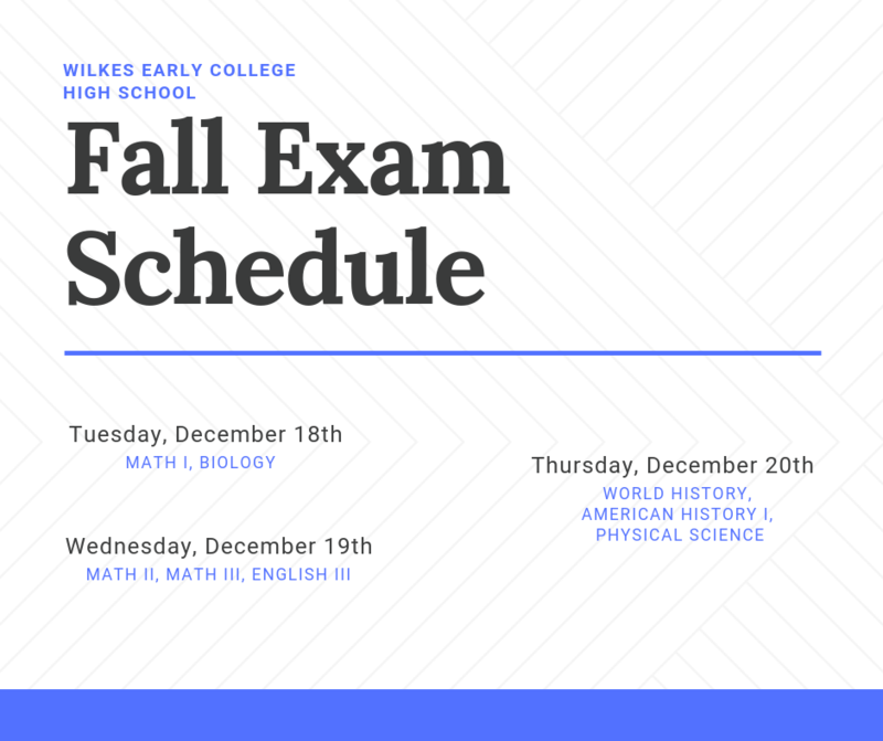 Fall Exam Schedule Thumbnail Image