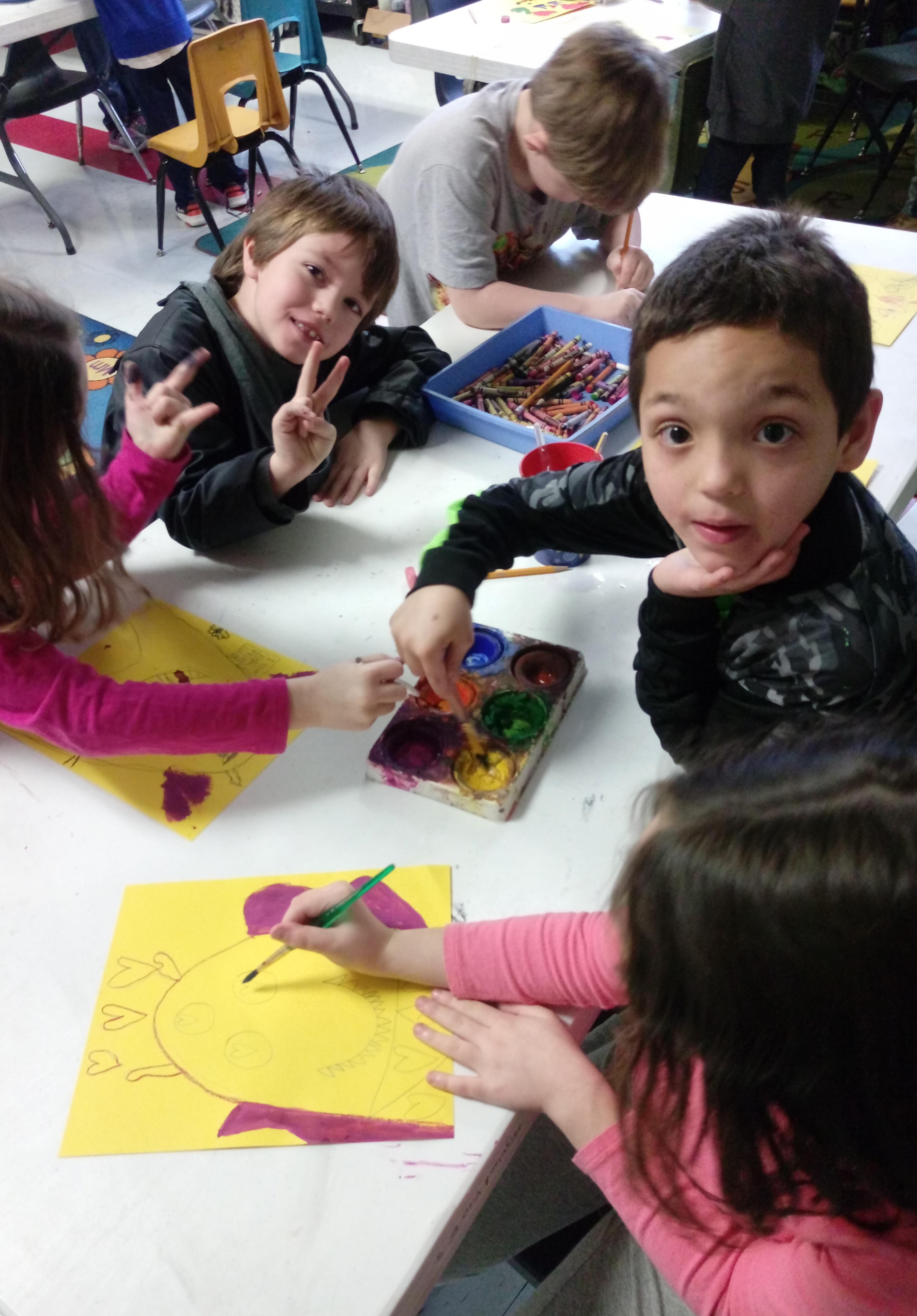First grade art.