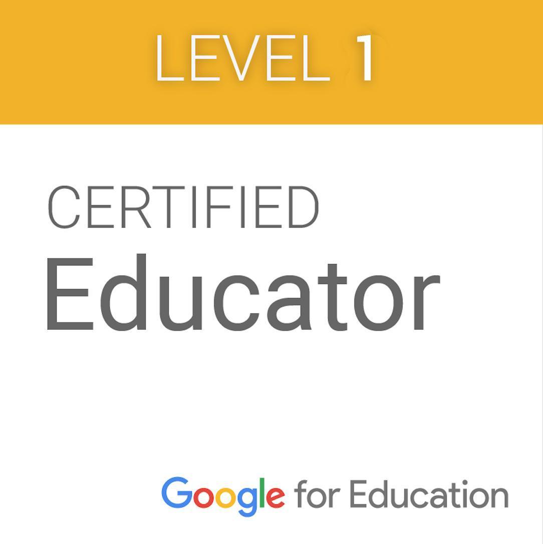 Google Level 1 Educator Badge