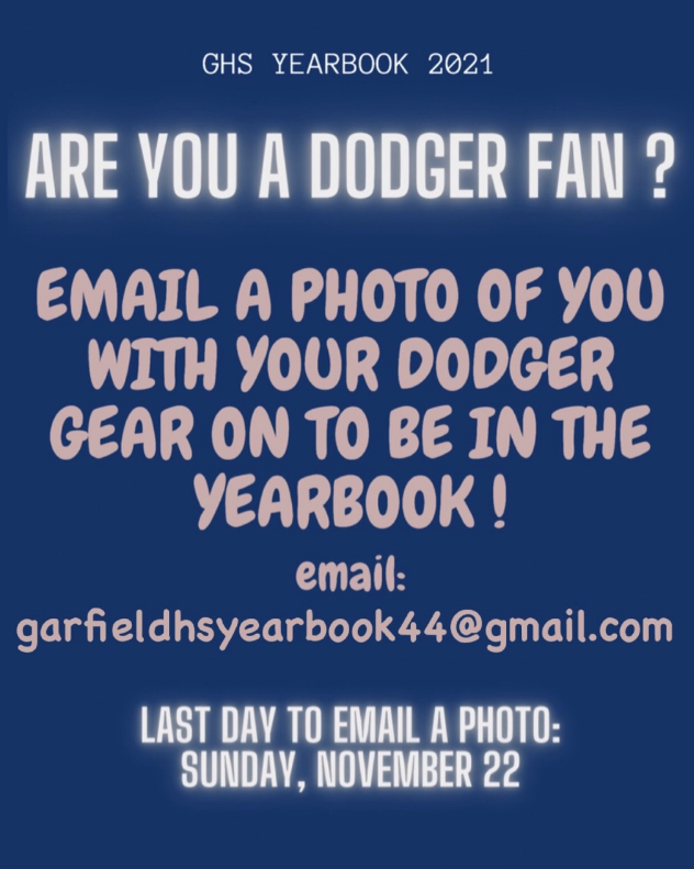 GHS Yearbook Update! Email your photos by Sunday,November 22nd.
