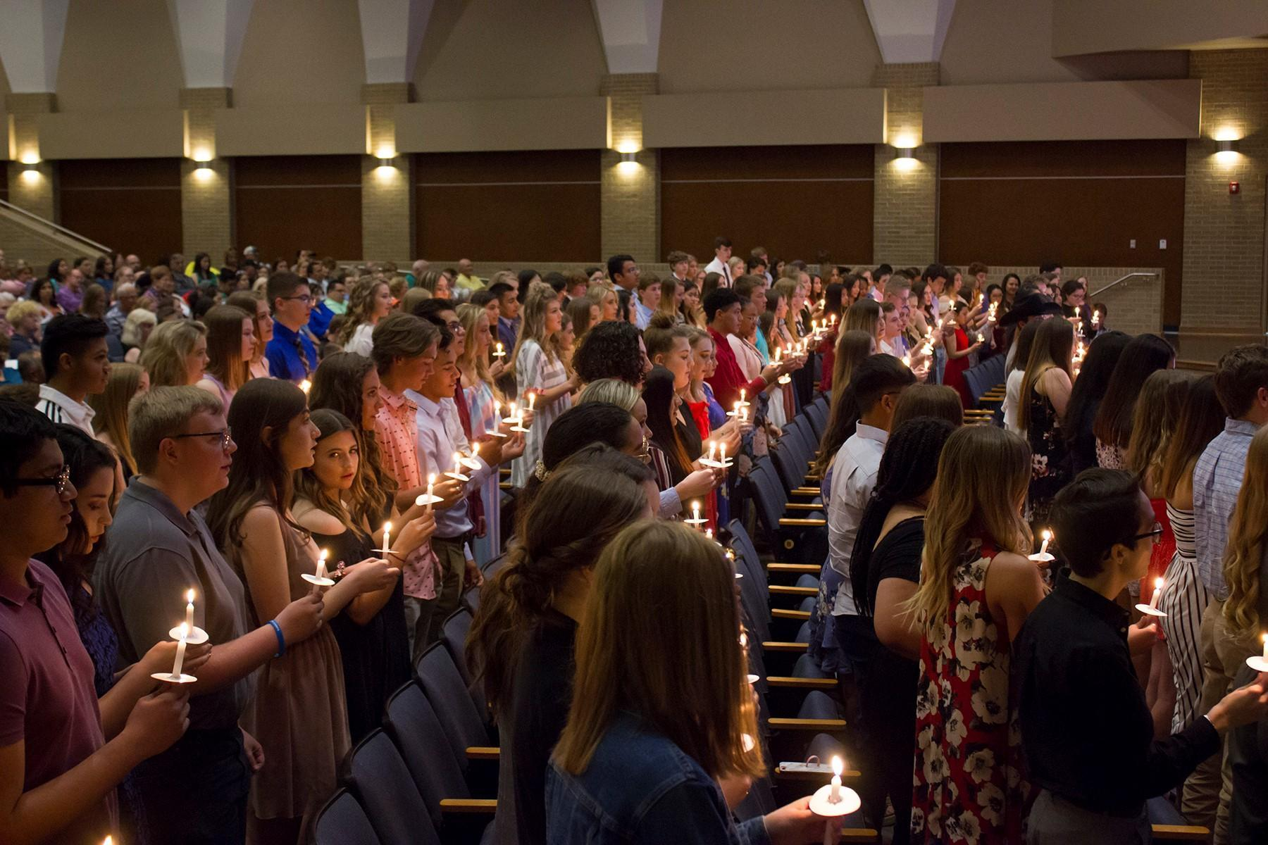 Candle ceremony 2019 NHS induction