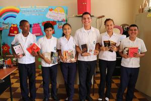 Students at the La Lima secondary school.JPG