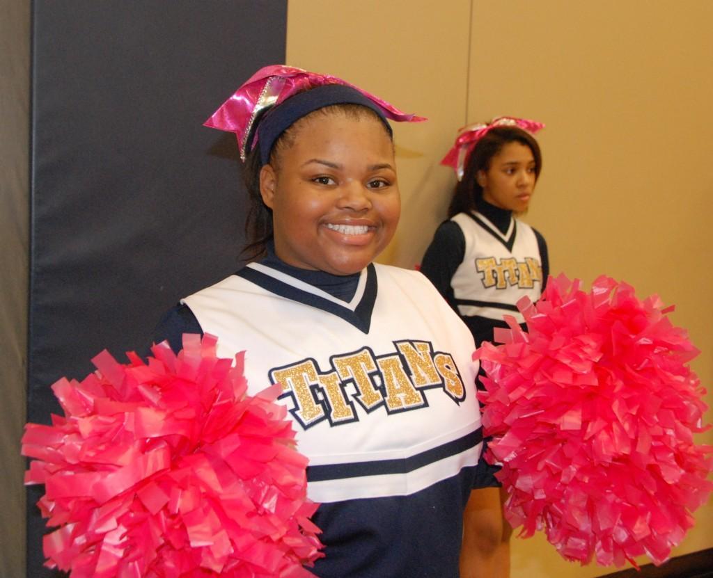 CPA Titans cheerleader