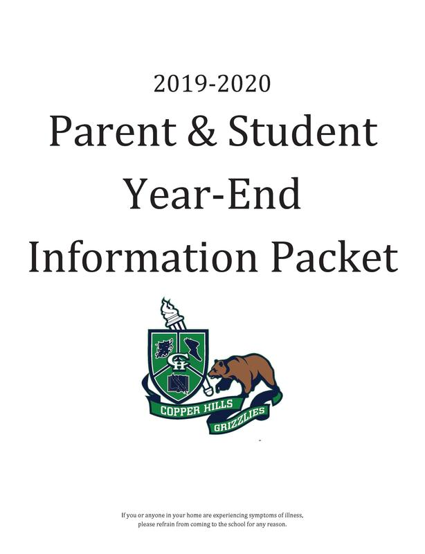 Parent & Student Year-End Information Packet