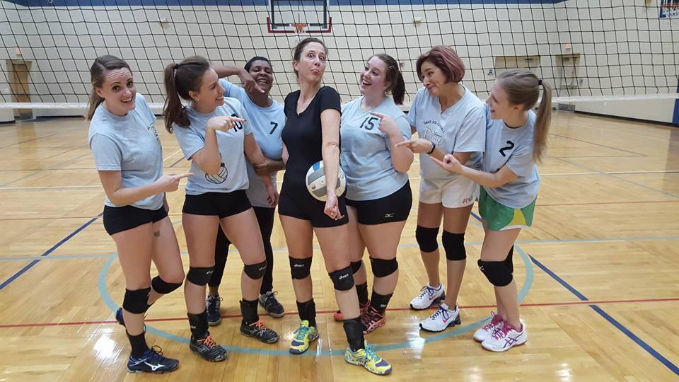Sue's Friday volleyball team