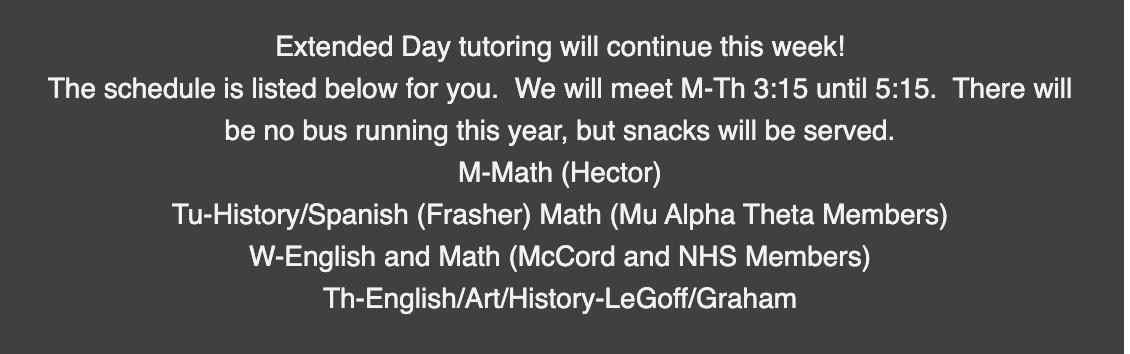tutoring info