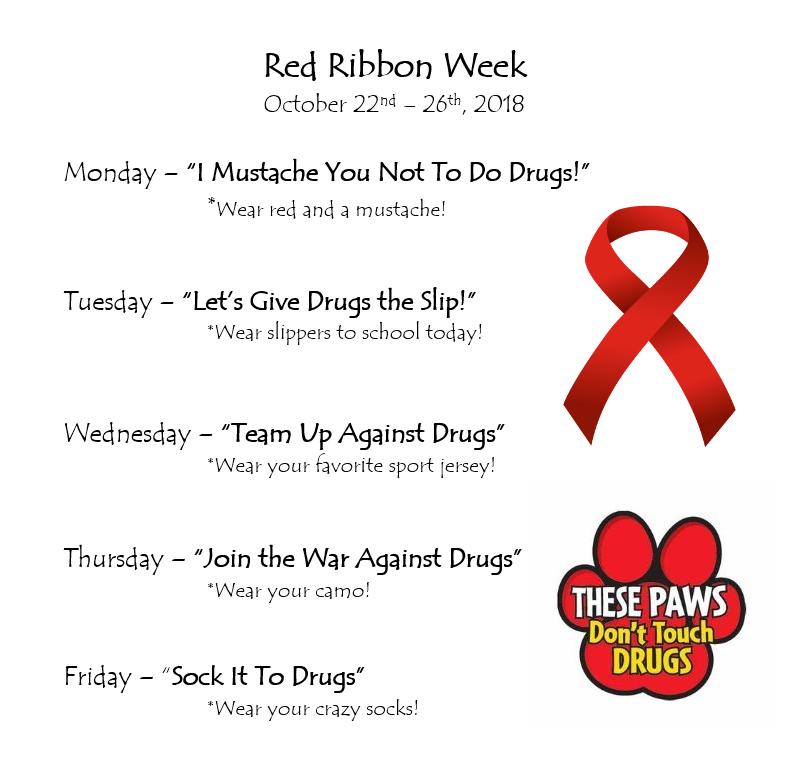 Red Ribbon Spirit Week Oct. 22-26 Featured Photo