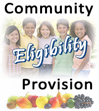 Students in graphic for Community Eligibility Provision