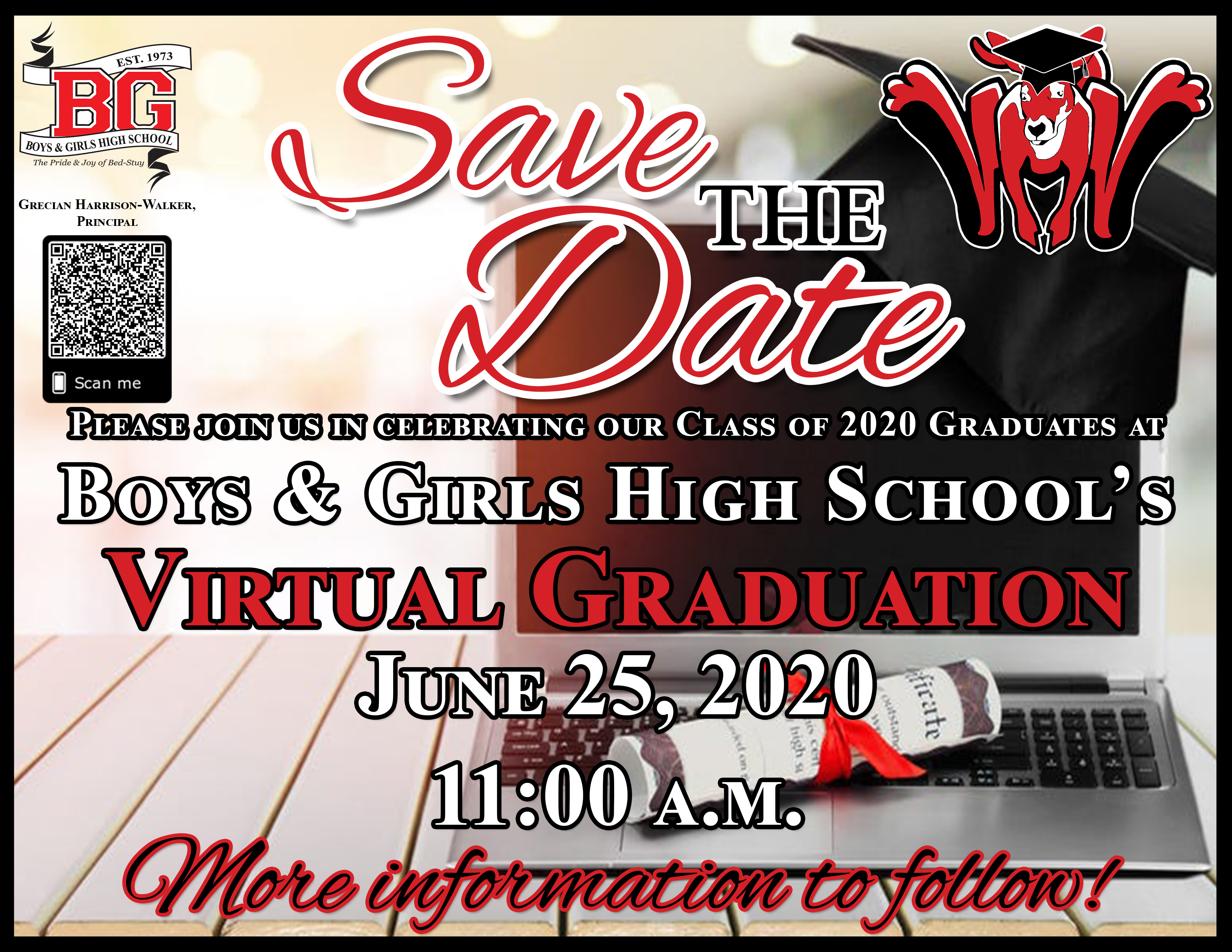 BGHS Virtual Graduation -  Save the Date