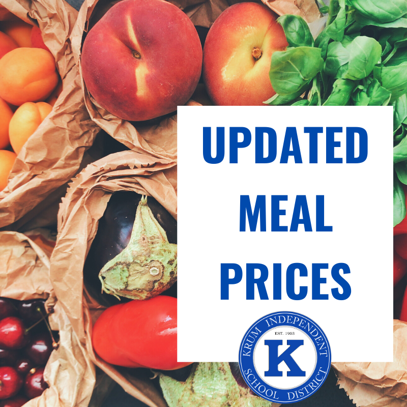 Meal Prices for the 2020-2021 School Year Featured Photo