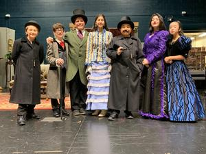 One Act Play students
