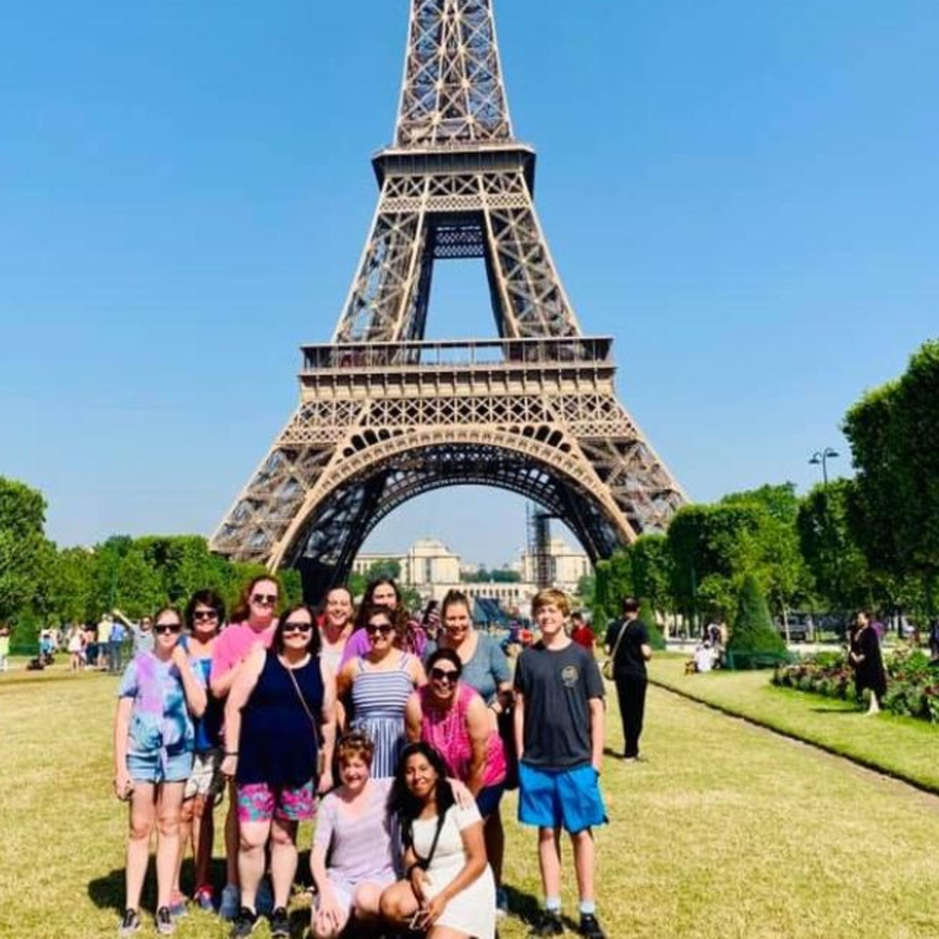 Picture of student on trip to Paris, France.