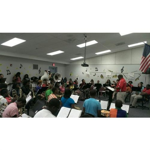 Former Director of Bands, Mr. John Greene Directing the McCormick Concert Band In Rehearsal