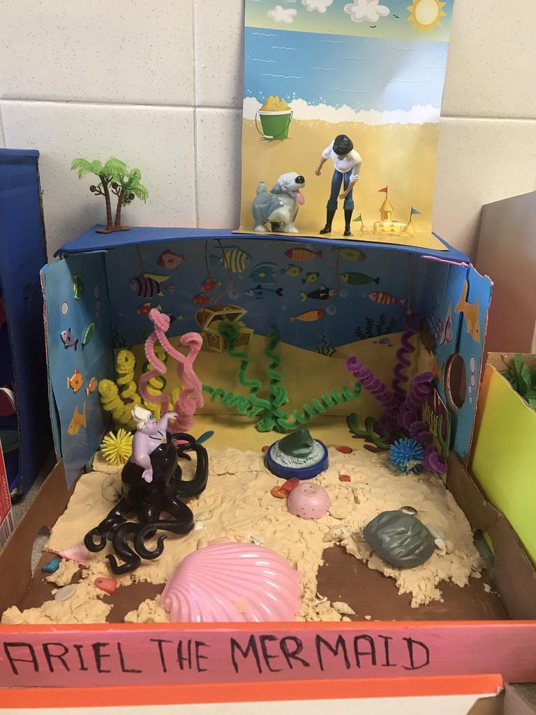 little mermaid diorama
