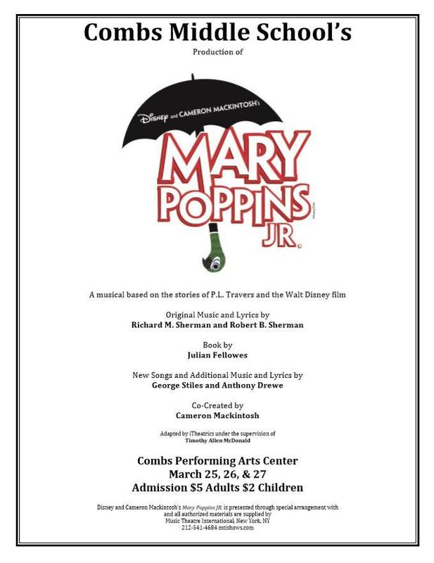 Mary Poppins Jr Play Flyer