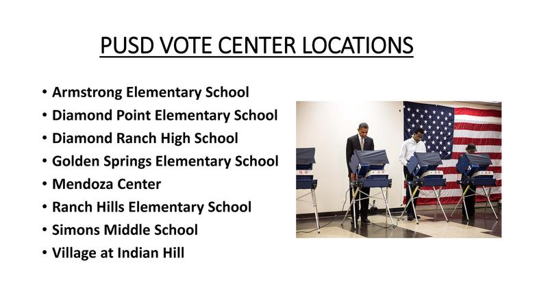 Photo of obama voting and pusd vote center locations open attached document for details on locations