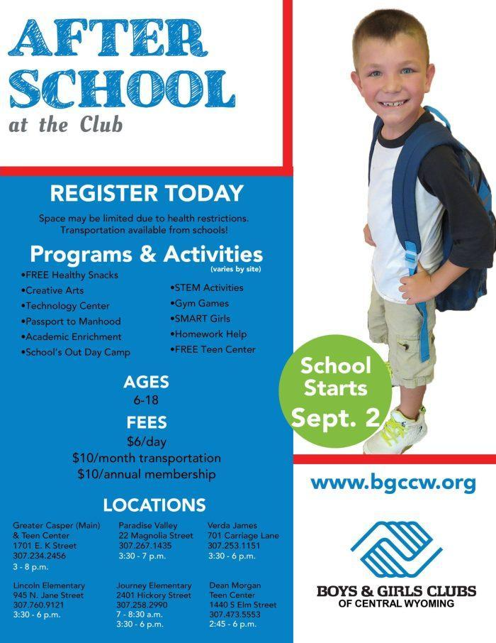 Boys and Girls Club After School Program Flyer