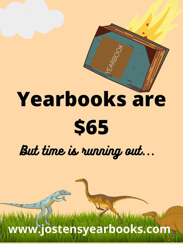 Yearbooks are $65... but time is running out