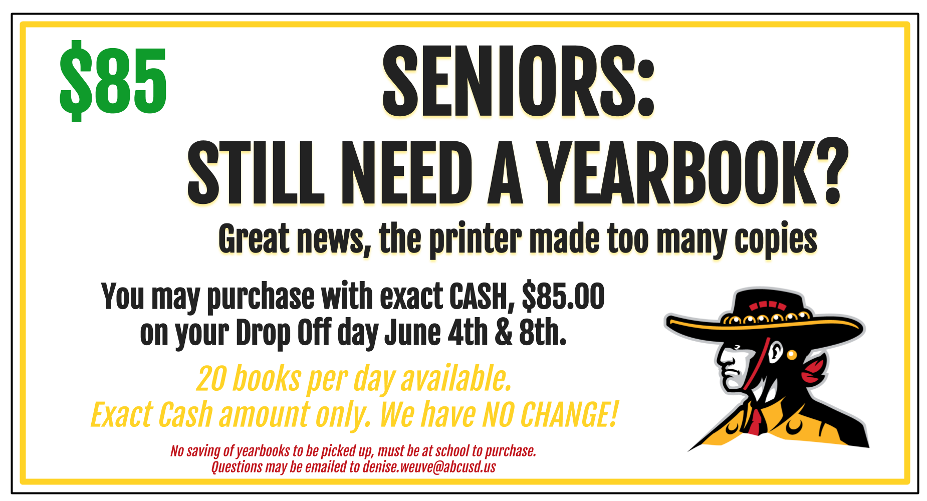 Seniors - 40 yearbooks available