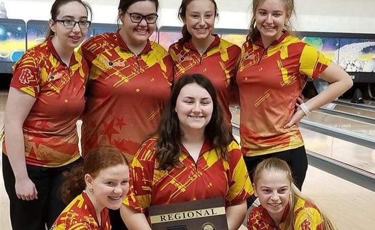 RIHS Girls' Bowling Wins First Regional Title Featured Photo