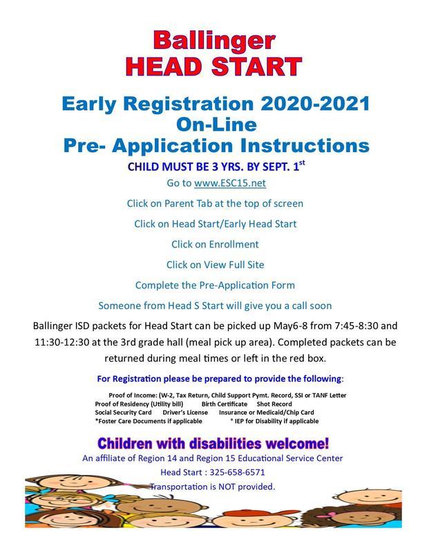 Head Start Registration