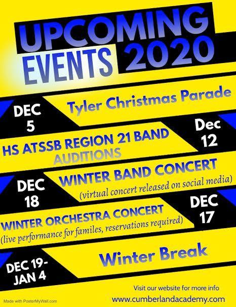 December Up Coming Events Featured Photo