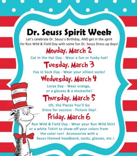 Dr. Seuss Spirit Week