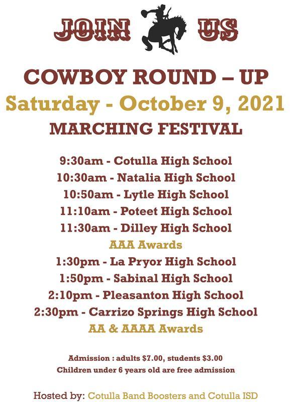 cowboy round up schedule info