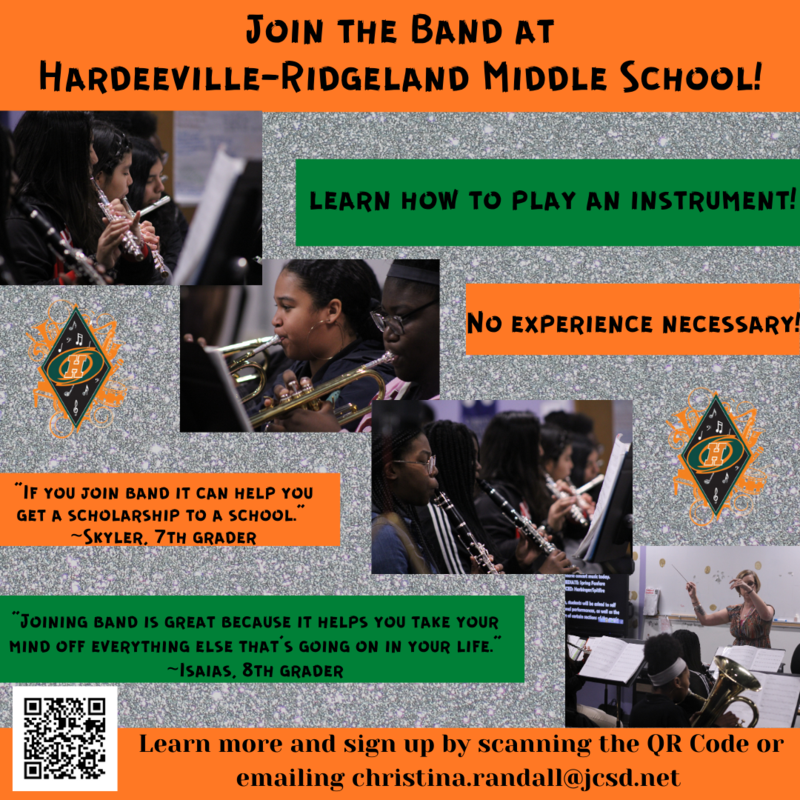 Join the HRMS Band! Click Here for More Information. Featured Photo