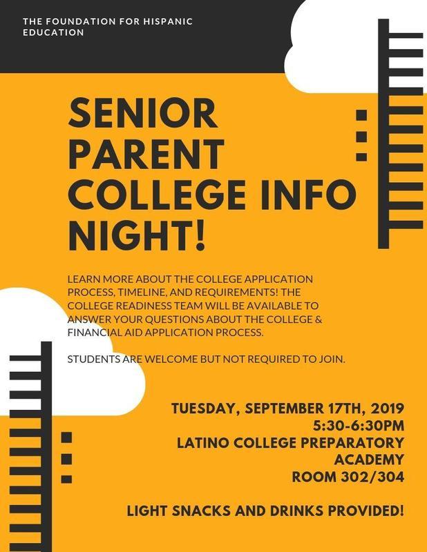 Senior Parent College Info Night! Featured Photo