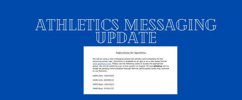 Important Athletics Messaging update Thumbnail Image