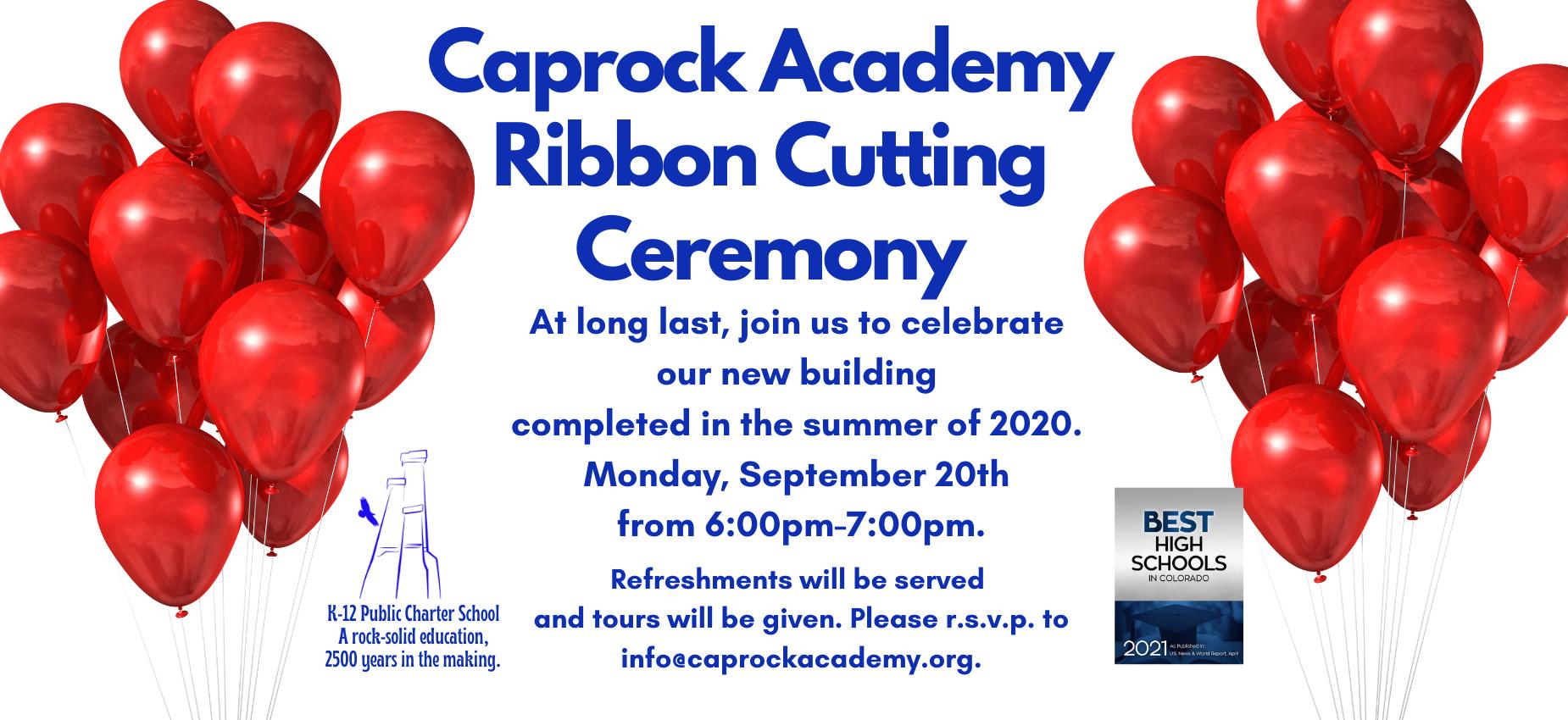 Ribbon Cutting ceremony Monday Sept 20th