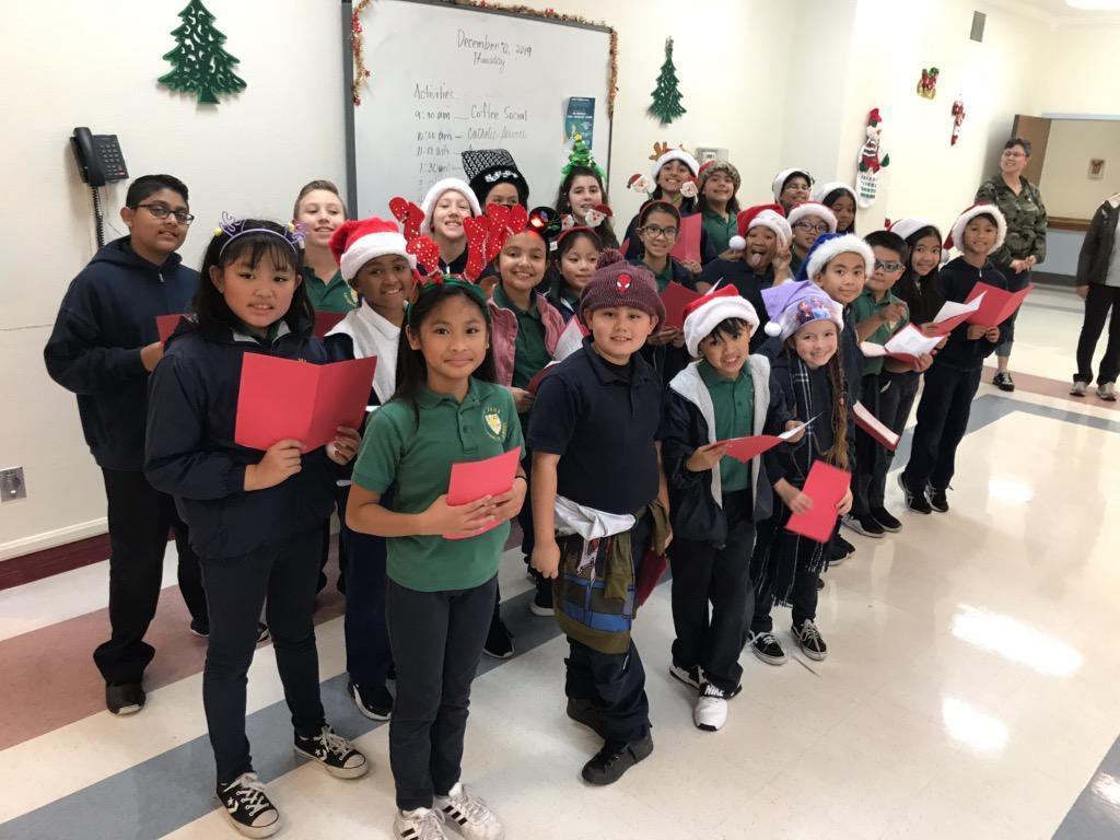 Singing Christmas carols at Gateway Care and Rehab Center.