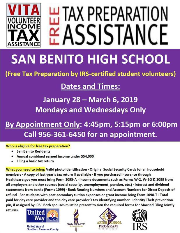 tax preparation flyer
