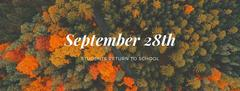 Students return 9/28