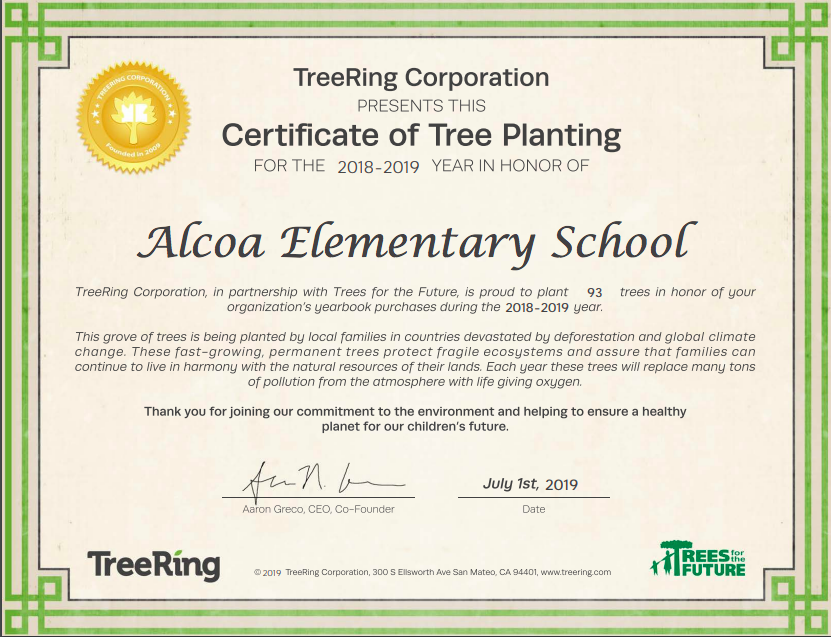 Trees Planted Certificate