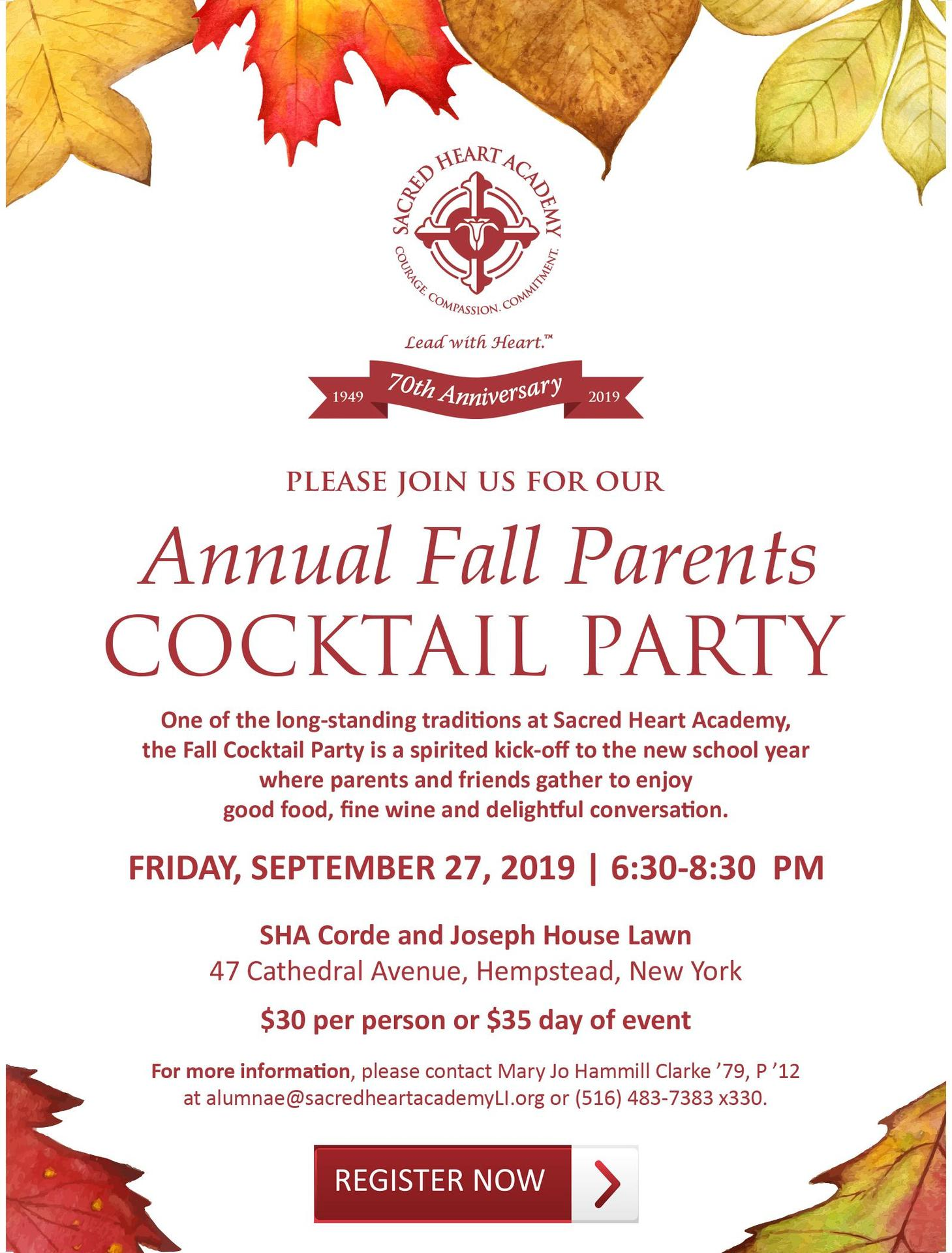 Fall Cocktail Party Invitation