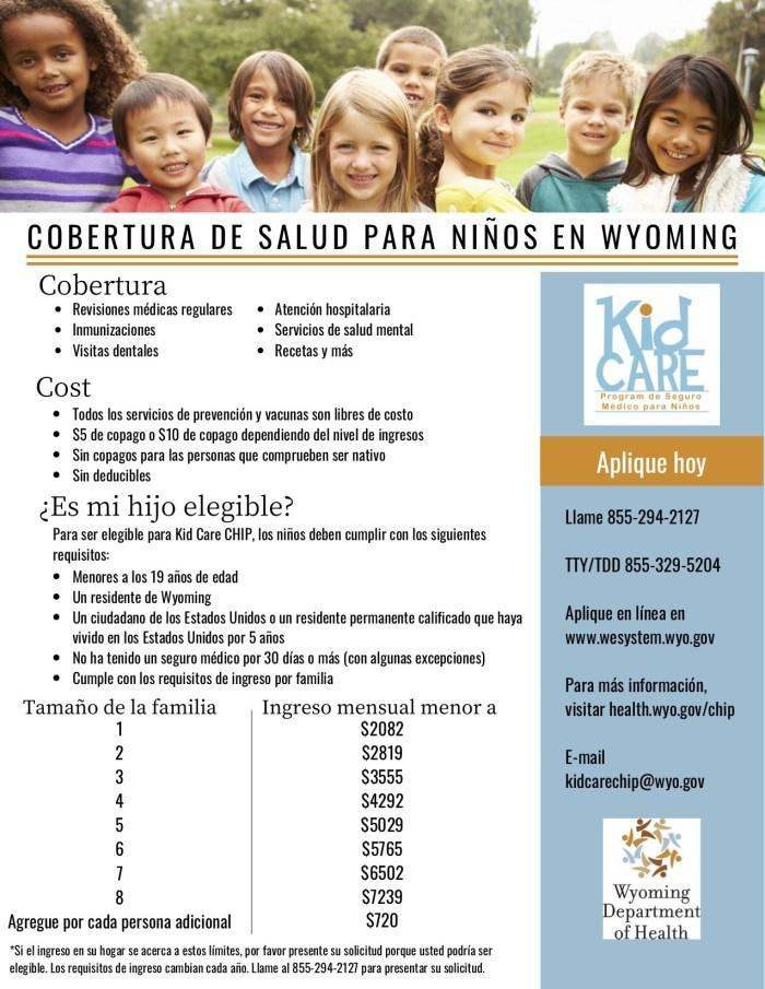 Kid Care Health Insurance Spanish Flyer